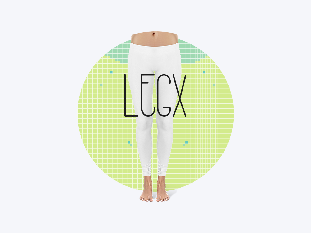 Diseño de pattern para leggins de LEGS