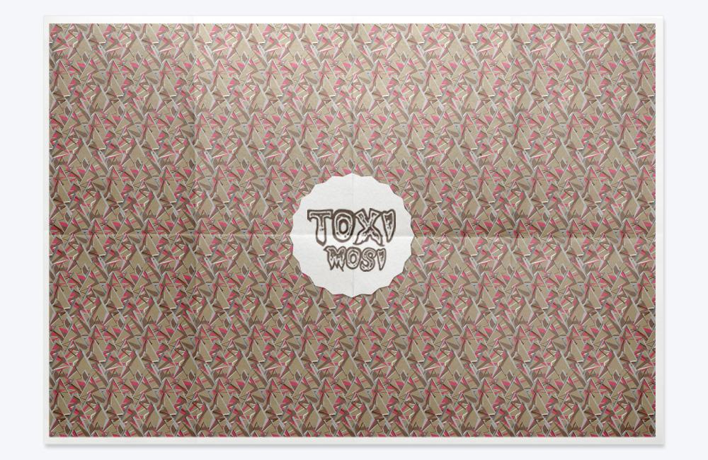 Pattern Colección Geometría Alborotada, camuflaje triangular